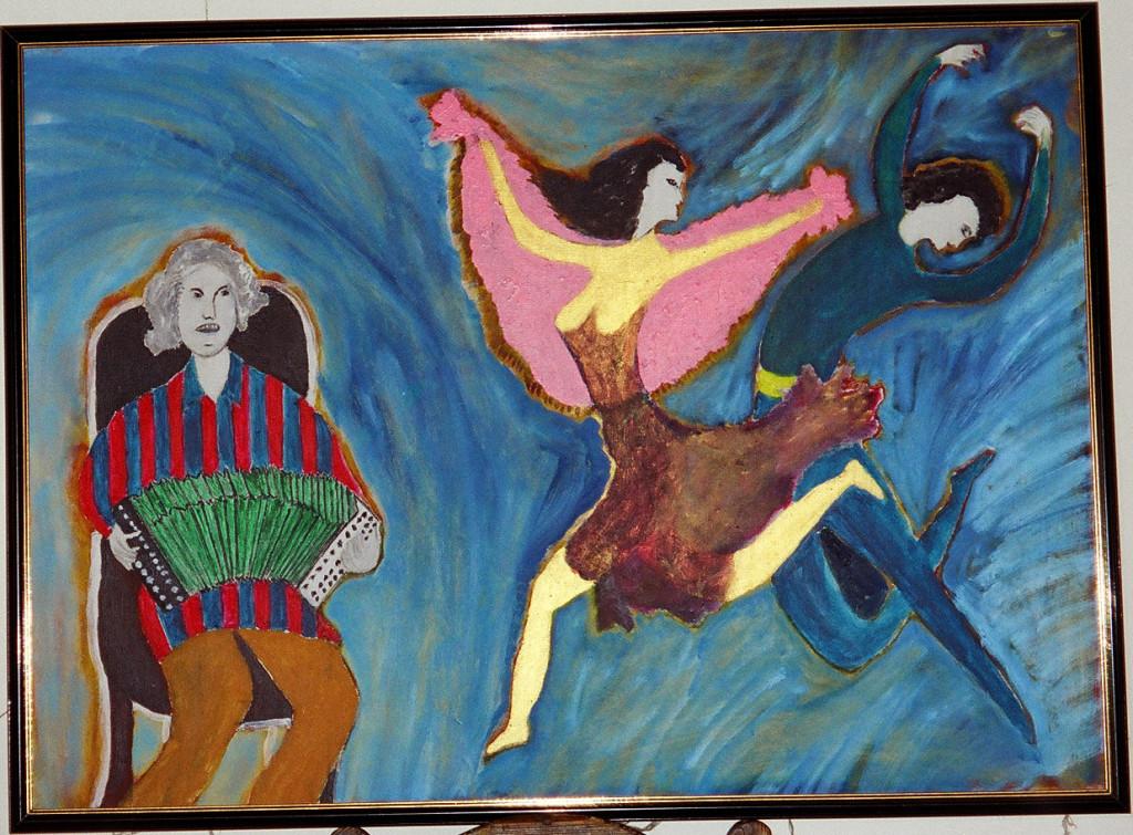 Из серии танцы России. 65х90см х.м.