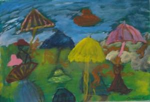 Зонтики 29х42 2005г. к-акр.